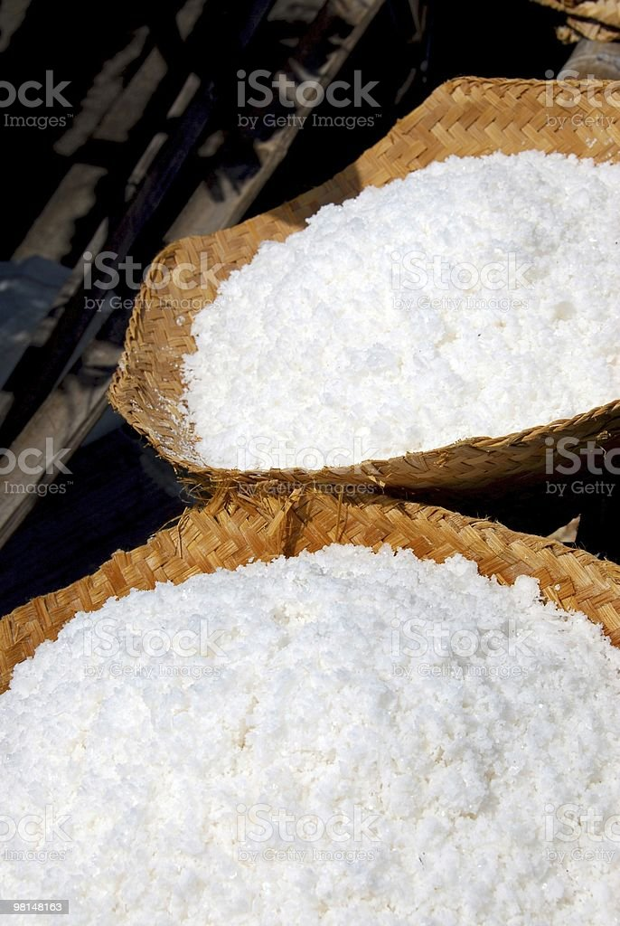 Baskets of Sea Salt royalty-free stock photo