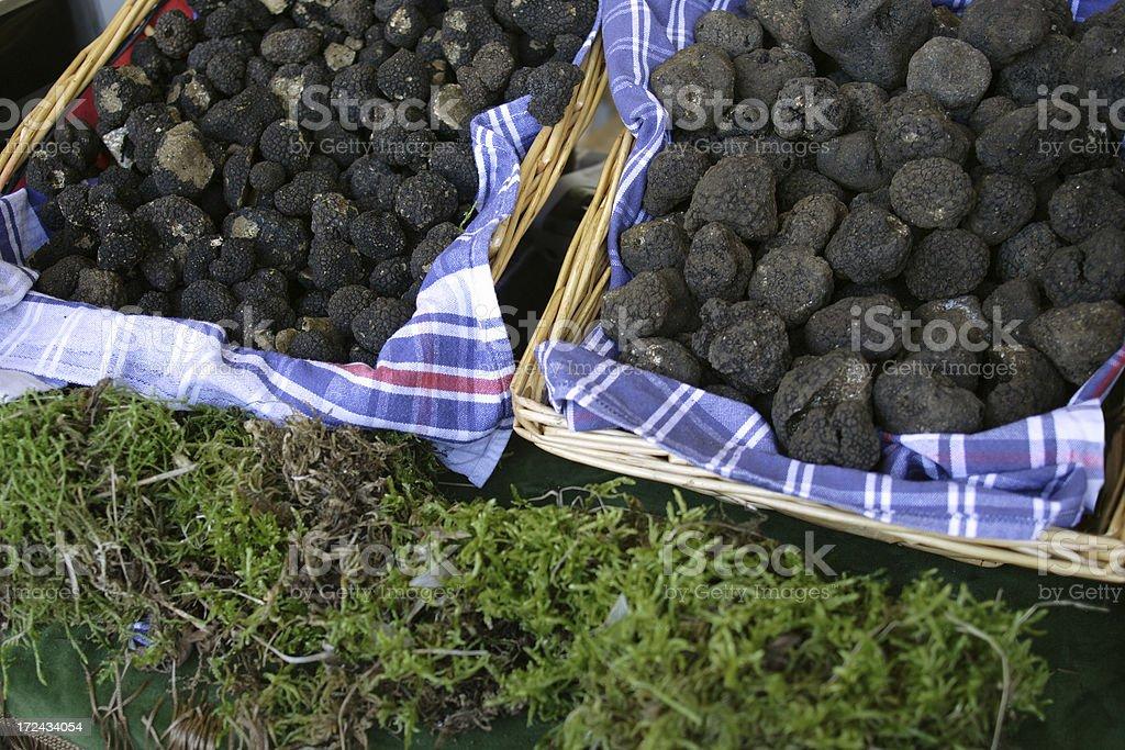 Baskets with truffles stok fotoğrafı