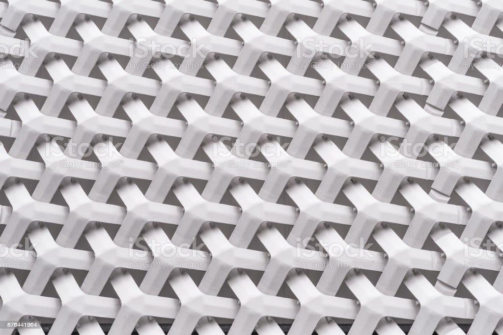 バスケット織りのアルミのファサード ストックフォト