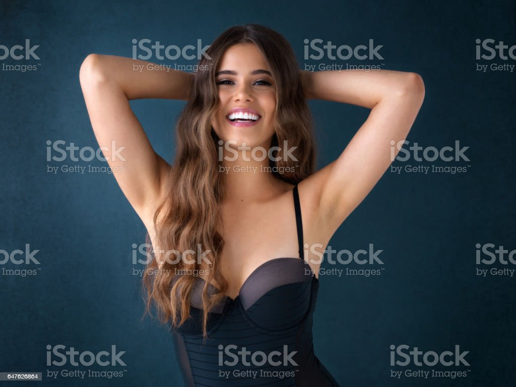 Basking in her own beauty stock photo