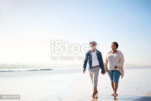 Shot of a mature couple enjoying some quality time together at the beach
