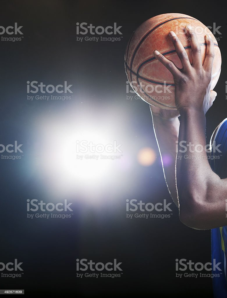 Basktball and hands stock photo