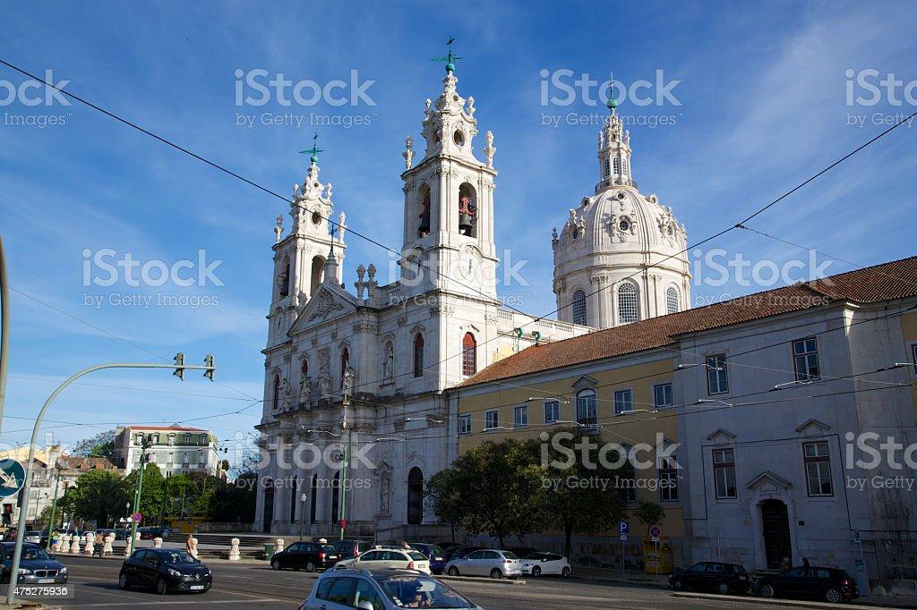 Basílica da Estrela Lissabon - seitlich stock photo