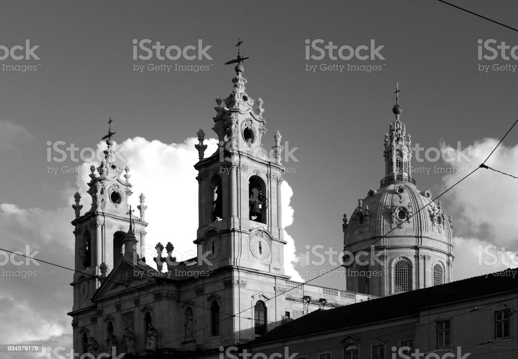 Basílica da Estrela. stock photo