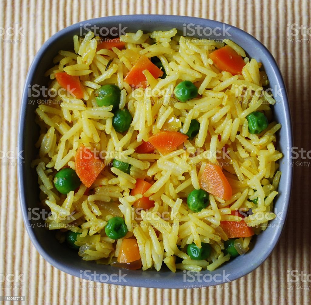 Basmati rice curry stock photo