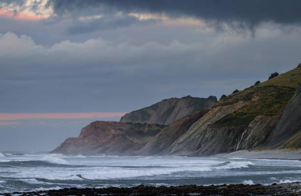 Basque Country Travel Destinations: Flysch Cliffs stock photo
