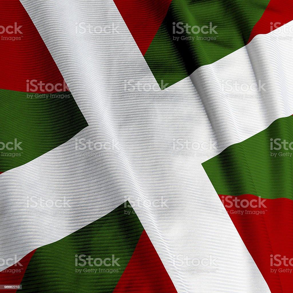 Basque Flag Closeup royalty-free stock photo
