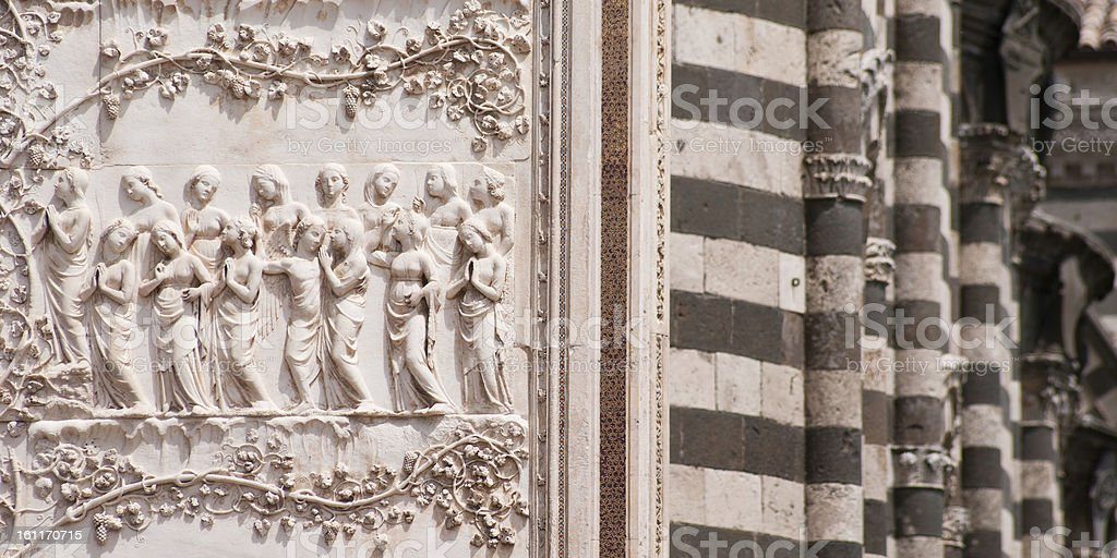 Bas-relief detail stock photo