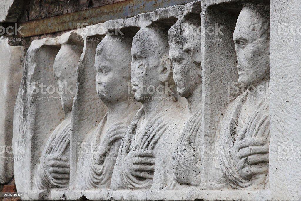 Basrelief su Appian way - foto stock