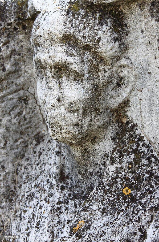 Basrelief in Appian way stock photo