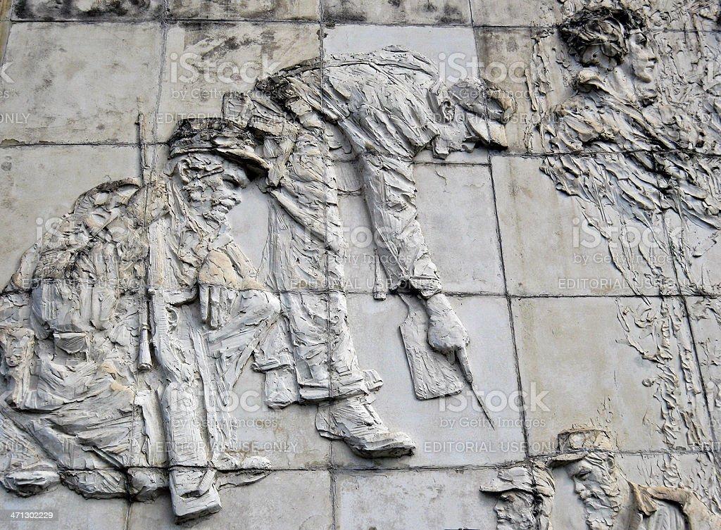 Bas-relief, Santa Clara royalty-free stock photo