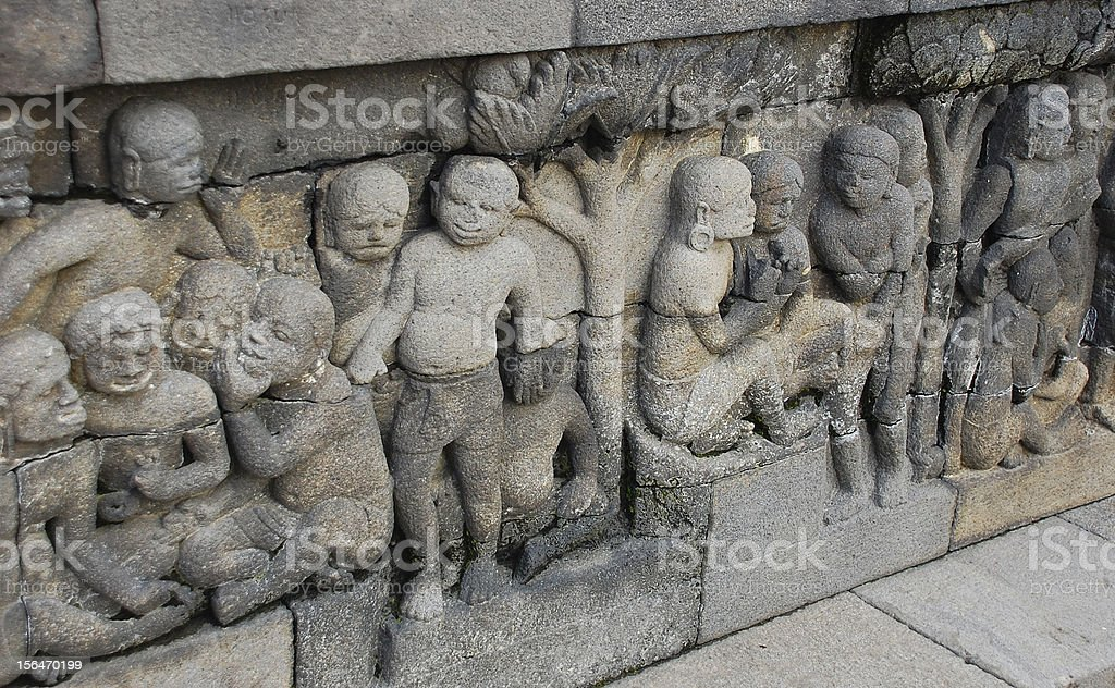 Bas-relief sculptures royalty-free stock photo
