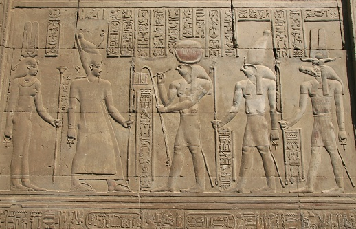 Bas-Relief, Temple of Haroeris and Sobek, Kom Ombo, Egypt