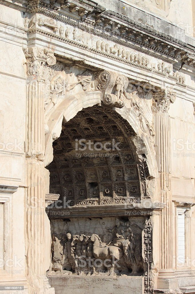 Basreliefs in the Arch of Titus royalty-free stock photo