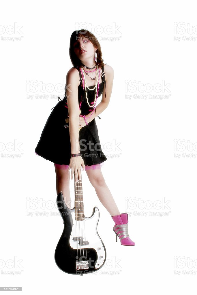 Bass Babe royalty-free stock photo