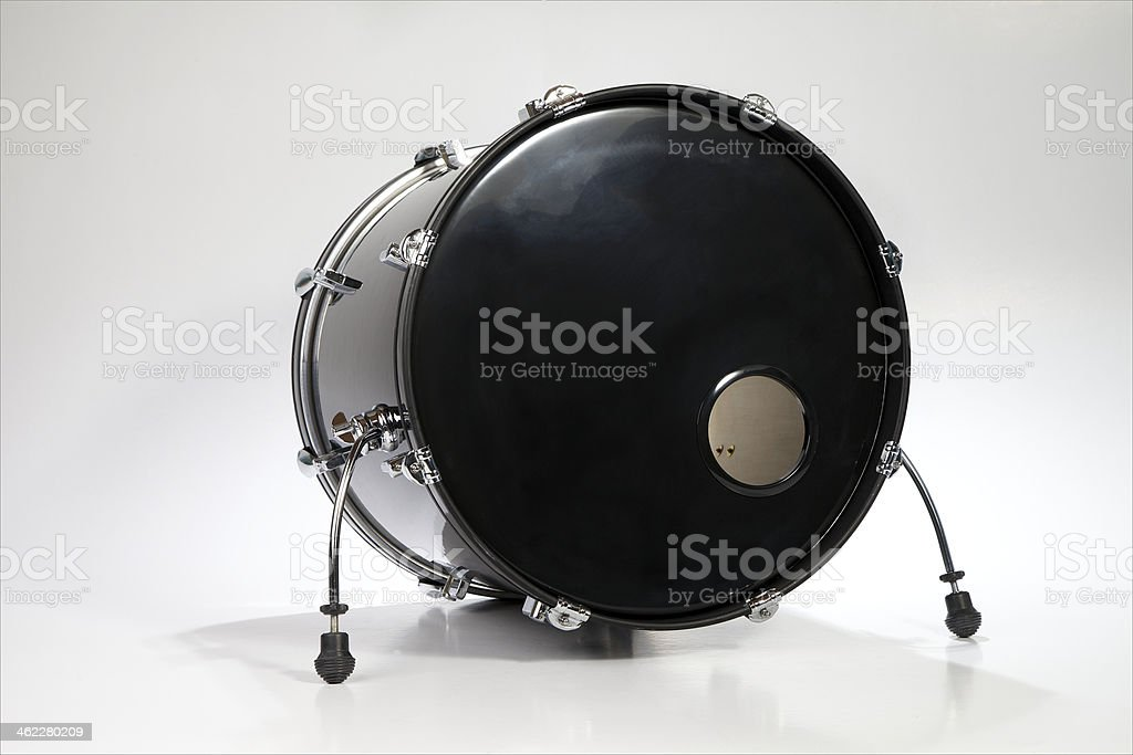 Bass drum for a drumset stock photo