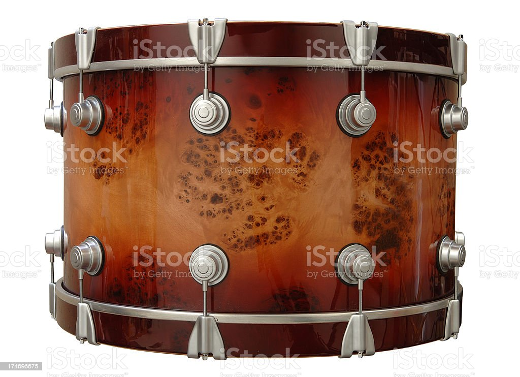 Bass Drum with Path stock photo