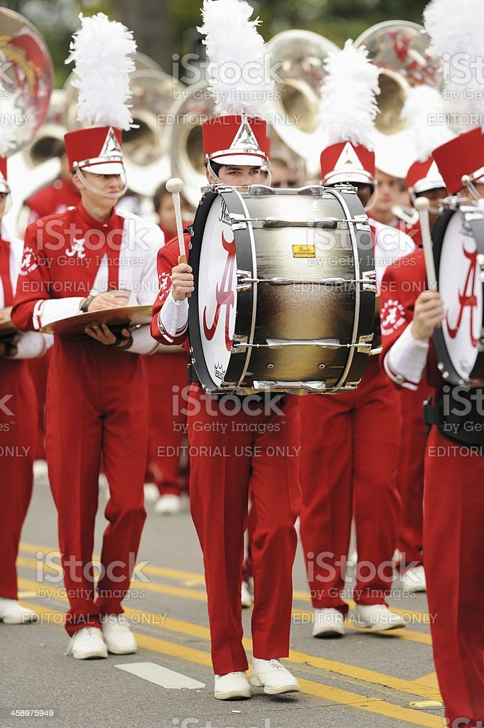 Bass Drummer in Alabama Million Dollar Band stock photo