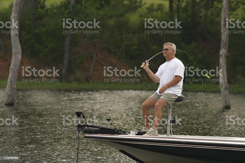 Bass Fisherman royalty-free stock photo