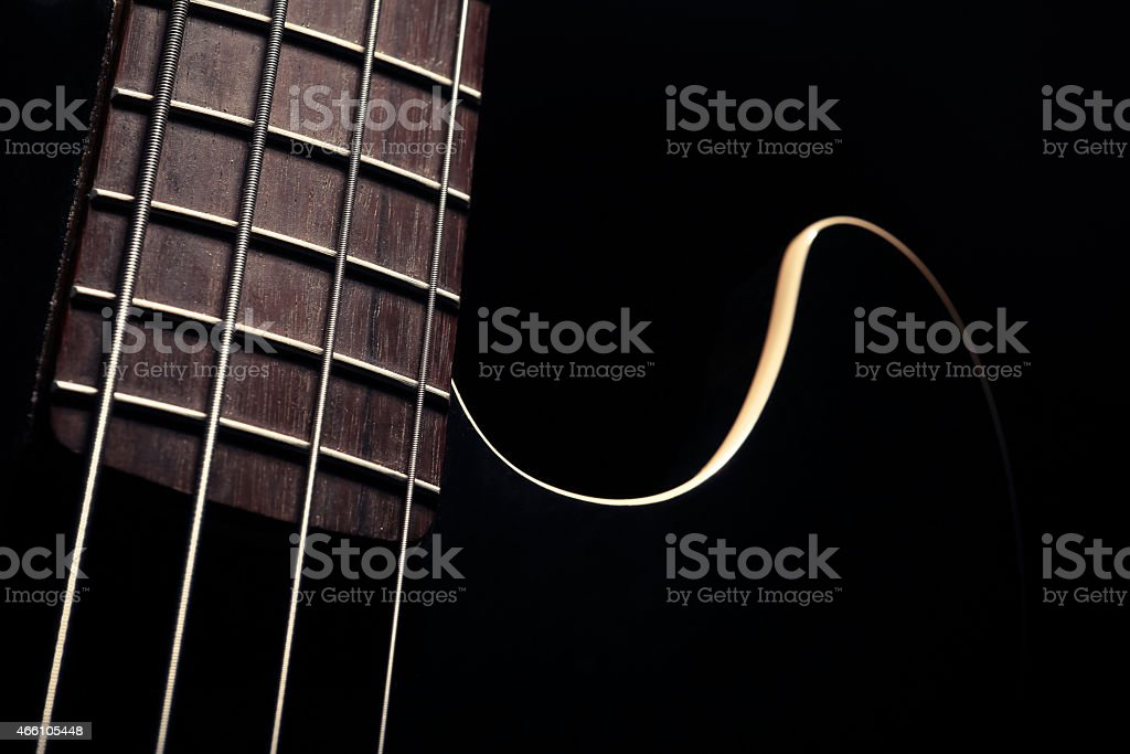 Bass fret board stock photo