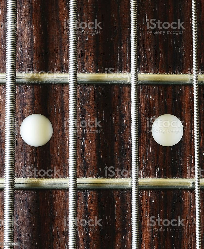 Bass guitar 12th fret royalty-free stock photo