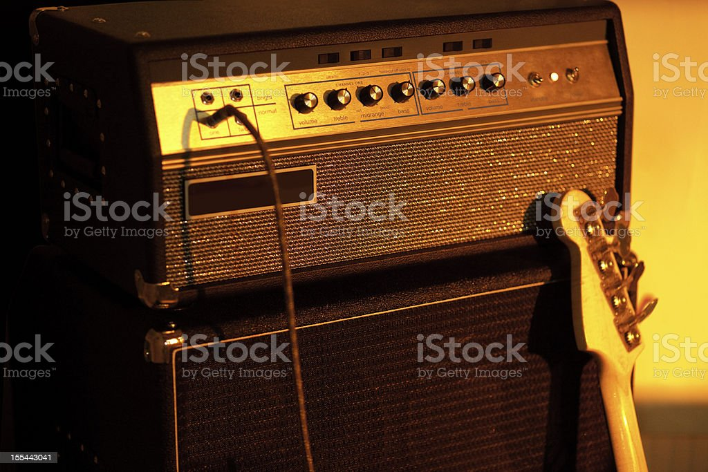 Bass Guitar Amplifier stock photo