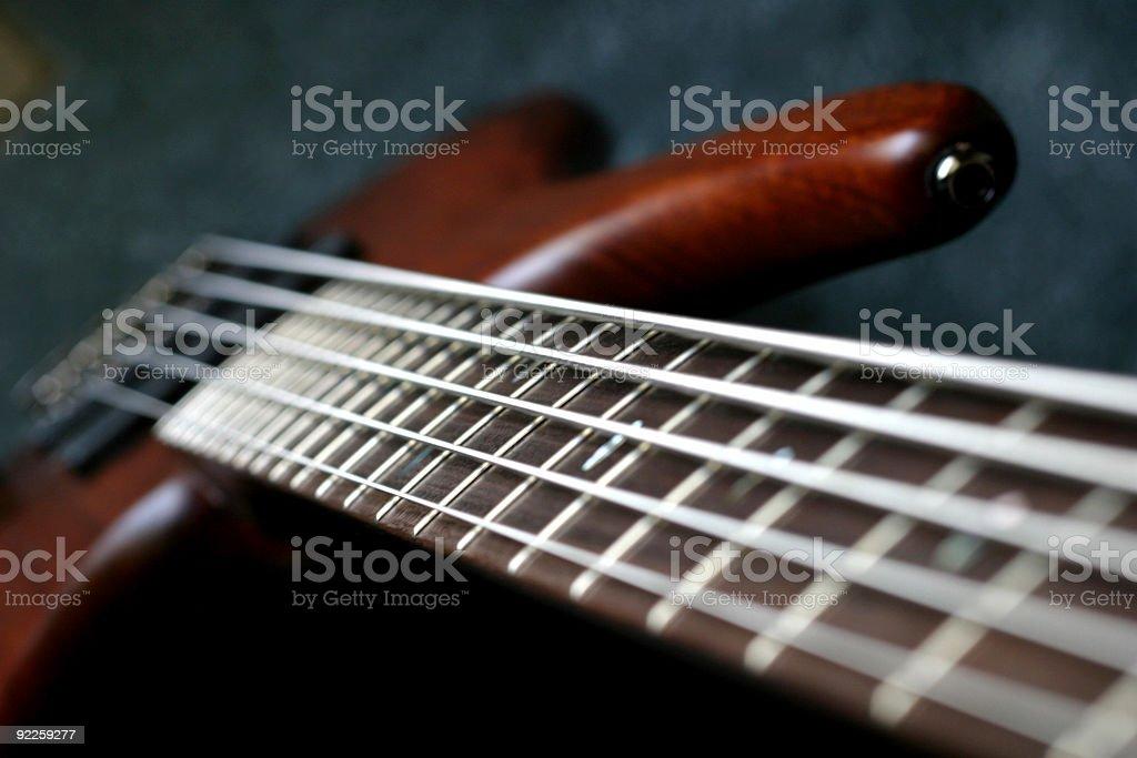 Bass Guitar Fretboard 6 stock photo