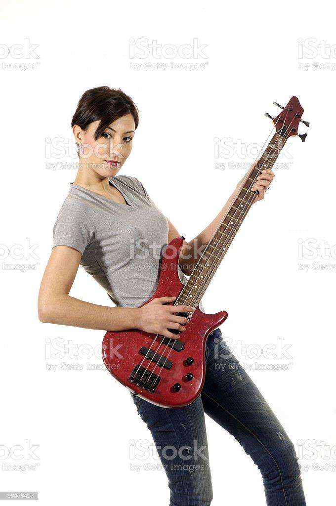 Bass Guitar Girl royalty-free stock photo