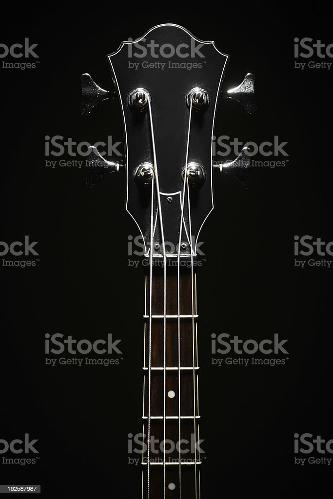 Bass guitar head stock photo