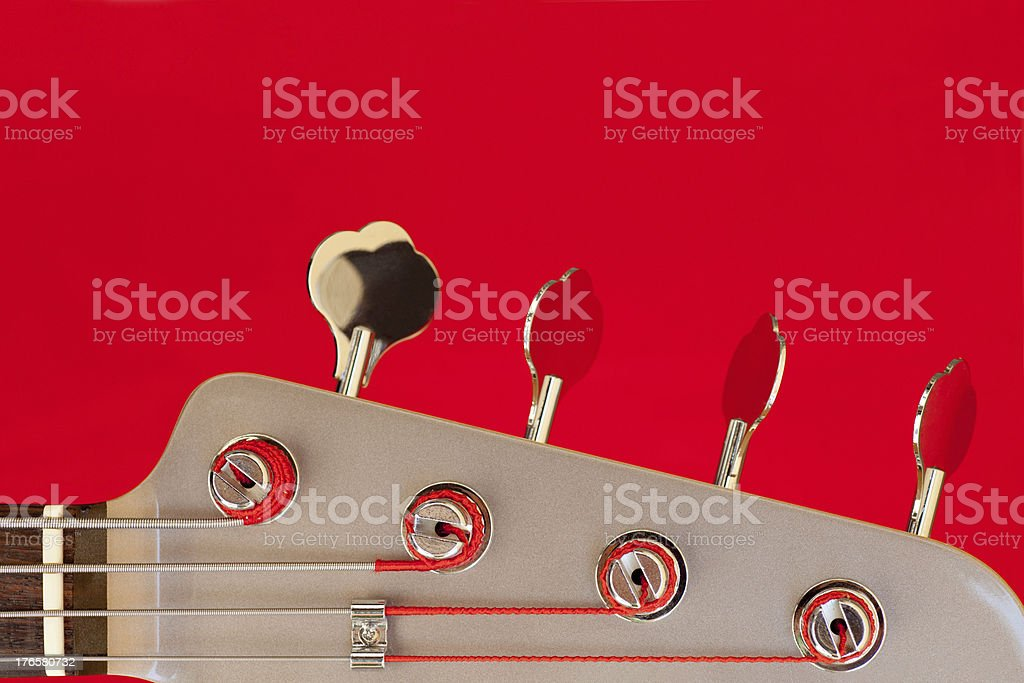 Bass Guitar Headstock stock photo