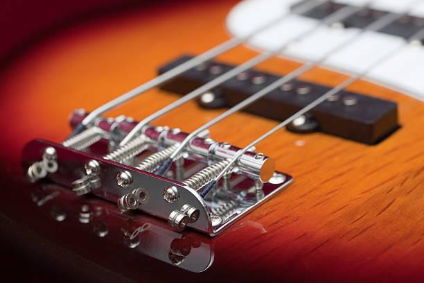 Bass Guitar Sunburst stock photo