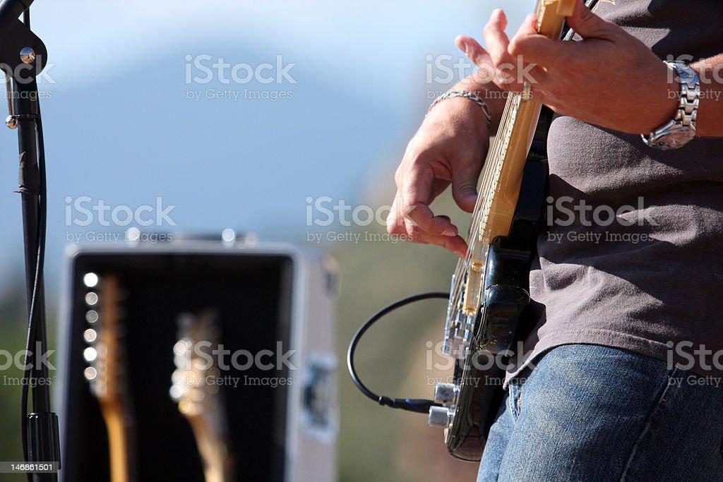 Bass Guitarist stock photo