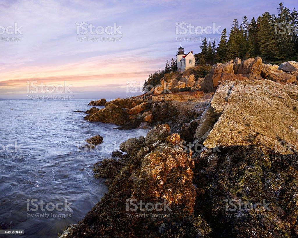 Bass Harbor Head Light stock photo