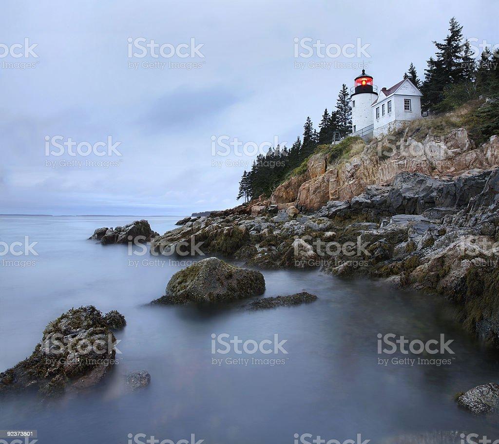 Bass Harbor Head Light royalty-free stock photo