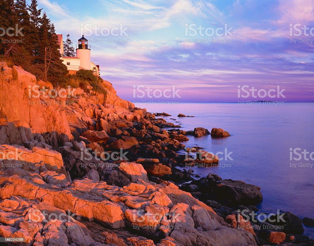 Bass Harbor Lighthouse Maine (P) stock photo