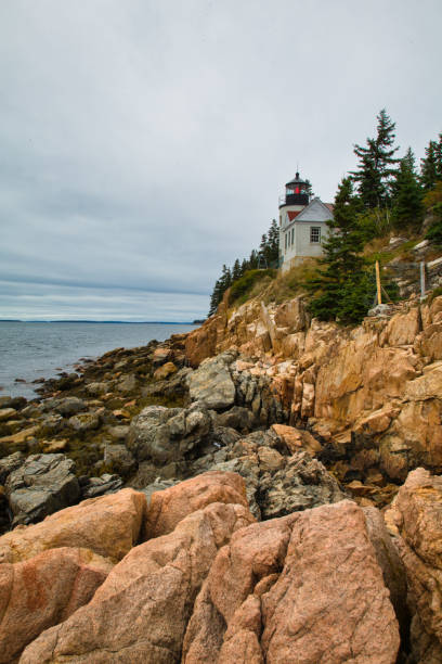 Bass Harbor Lighthouse, Mount Desert Island, Maine stock photo