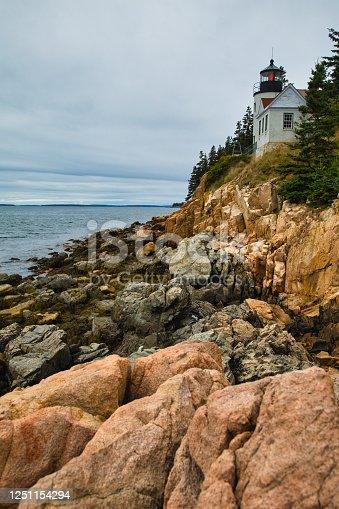 Bass Harbor Lighthouse on Mount Desert Island in Maine