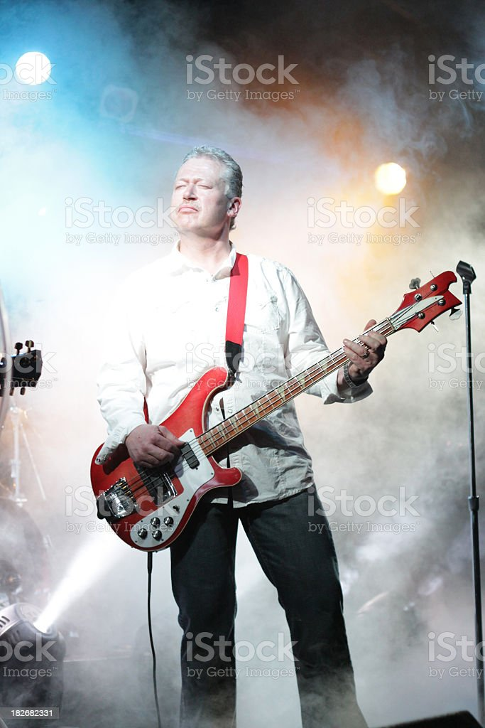 Bass Musician stock photo
