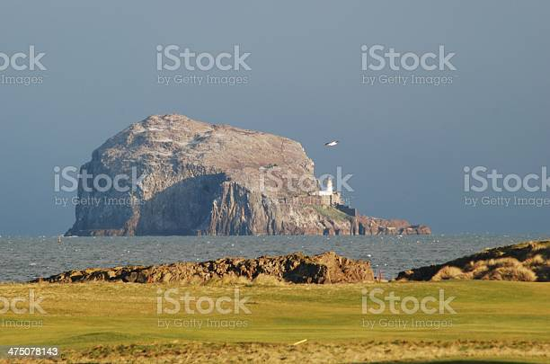 Bass Rock Fro Glen Golf Club Stock Photo - Download Image Now