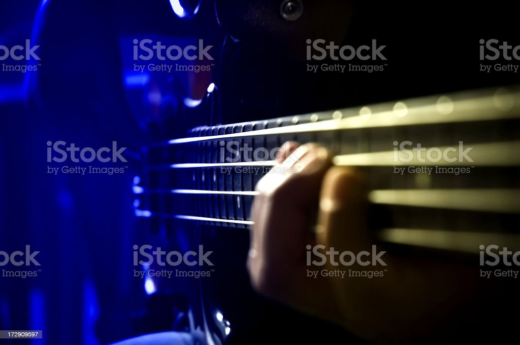 Bass strings royalty-free stock photo