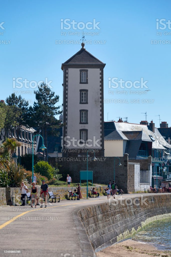 Bas-Sablons lighthouse in Saint-Malo - Royalty-free Architecture Stock Photo
