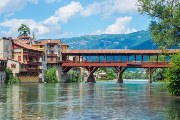 Bassano del Grappa Alpini Bridge - foto stock