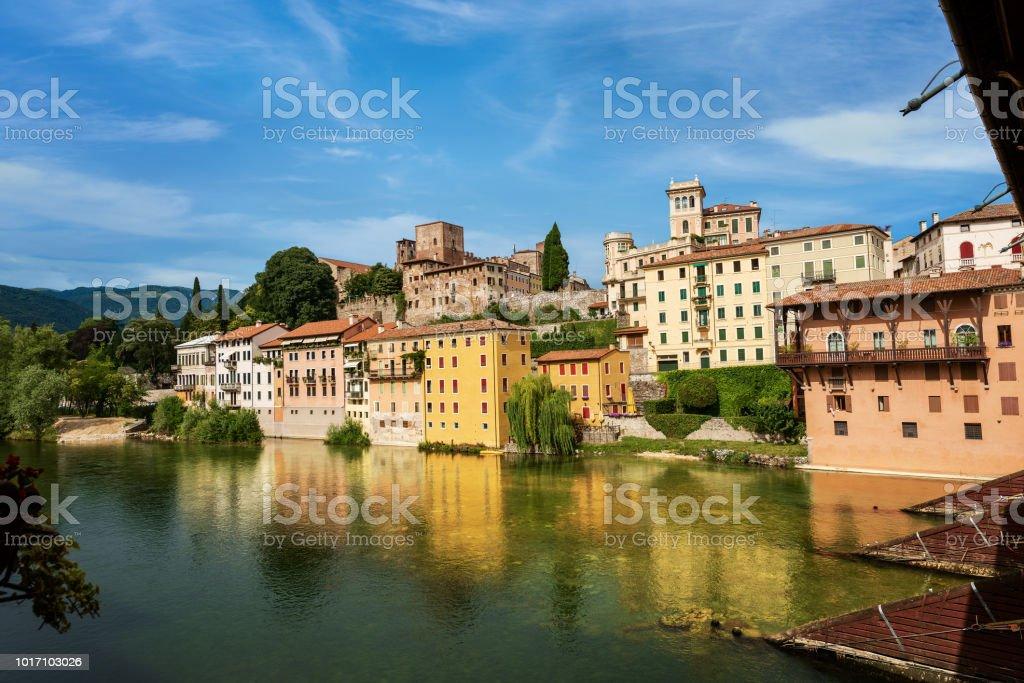 Bassano del Grappa and Bridge of the Alpini - foto stock