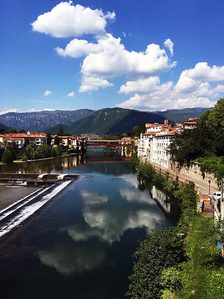 Ponte di Bassano del Grappa. - foto stock