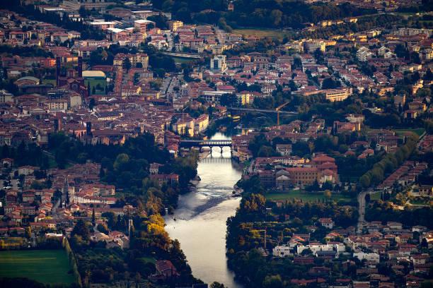 Bassano del Grappa - Panorama della Città - foto stock