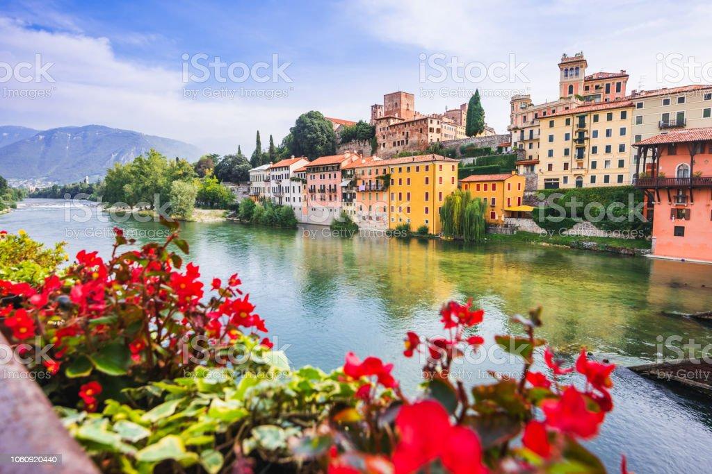 Bassano del Grappa town, Veneto, Italy - foto stock