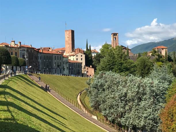Bassano del Grappa - Viale dei Martiri , Prato Santa Caterina - foto stock