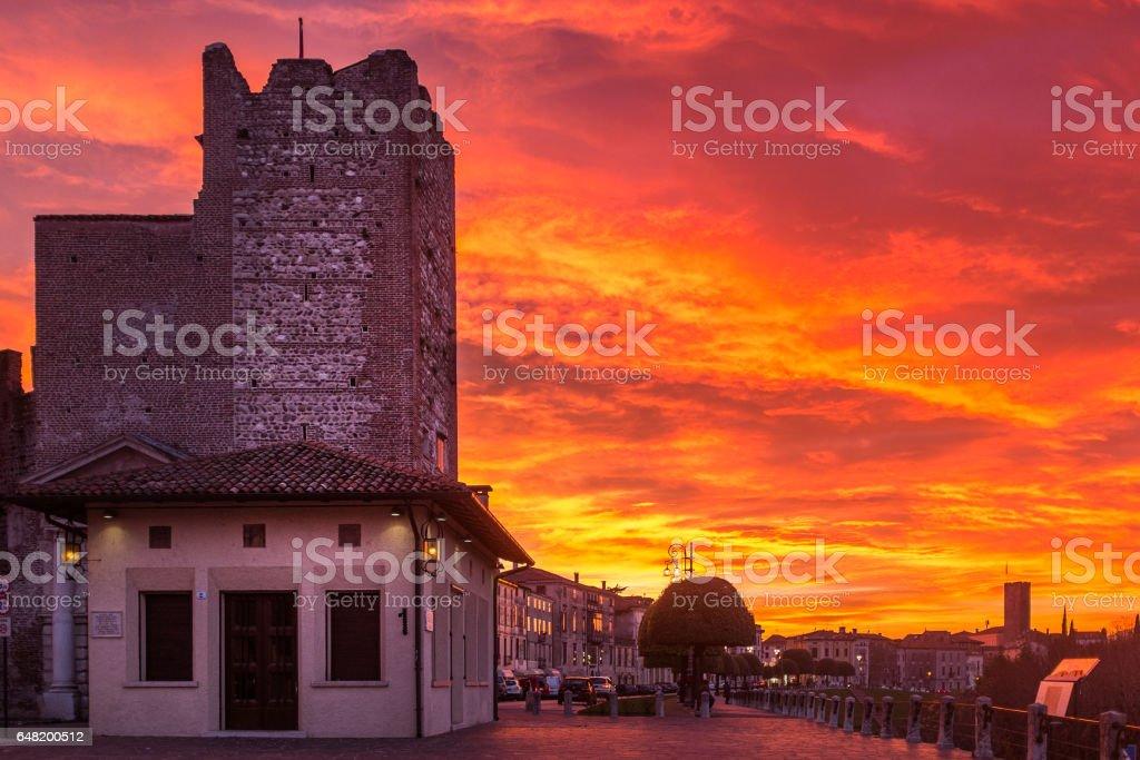Bassano del Grappa,tramonto,2 - foto stock