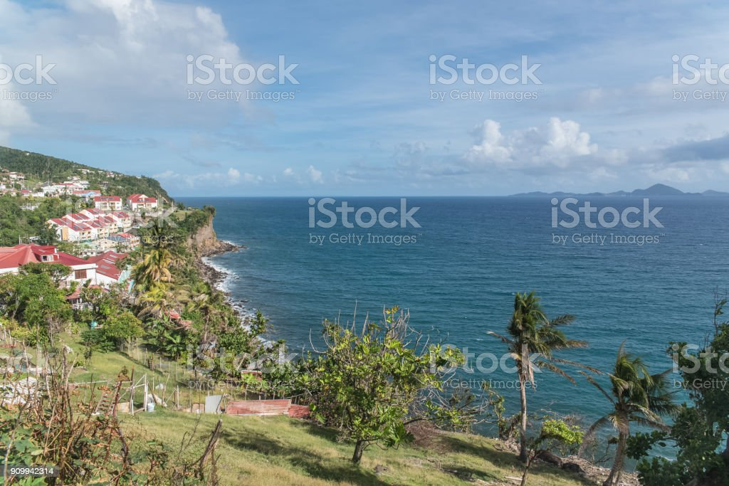 Basse Terre in Guadeloupe, panorama stock photo