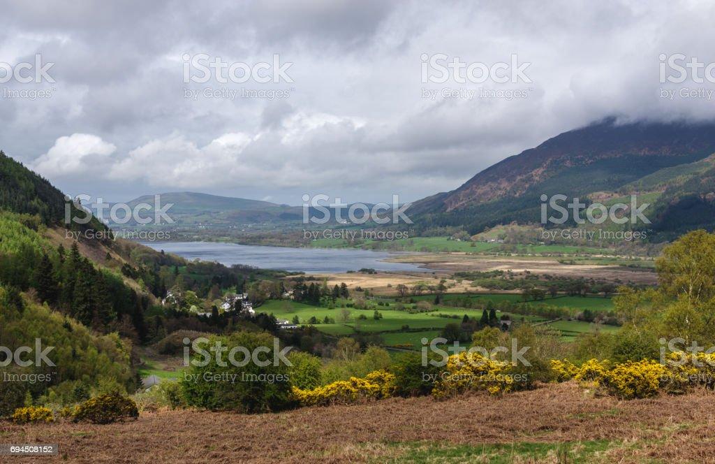 Bassenthwaite Lake in Lake District stock photo